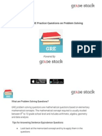 GRE Problem Solving Questions