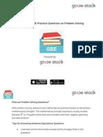 GRE Problem Solving Questions