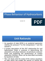 Unit II Phase Behaviour of Hydrocarbons