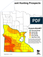 2014 Pheasant Hunting Prospects Map Dnr September