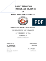 Project Report Onasahi India Glass Limited