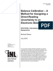 Balance Calibration Paper Final Idaho National Laboratory