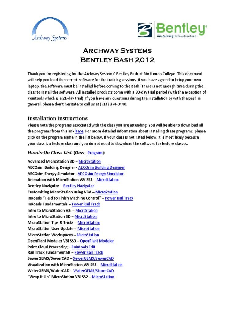 Installation Instructions Bentley | Icon (Computing