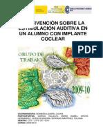 Intervencion Sobre La Estimulacion Auditiva en Alumnos Con Implante Coclear