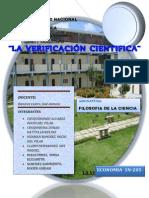 LA VERIFICACIÓN CIENTIFICA filosofia.docx