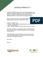 Creative Reading Bulletin 3 - Literacy