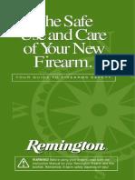 Firearms - Remington Firearms Safety Booklet