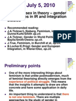 Feminist IR Theories