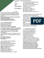 Folha de Canto – Cenáculo Toca de Assis