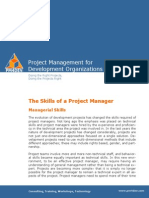 PM4DEV the Skills of a Project Manager