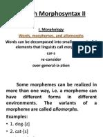 English Morphosyntax