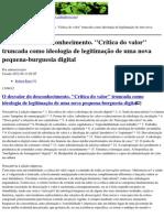 """galizalivre.org - O desvalor do desconhecimento. """"Crítica do valor"""" truncada como ideologia de legitimação de uma nova pequena-burguesia digital - 2012-08-13.pdf"""