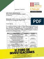 Informe Semilleros II Encuentro Interno Cierre Inscripciones