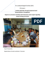 Report on Curriculum Workshop