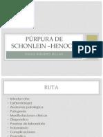 PÚRPURA de Schonlein –Henoch