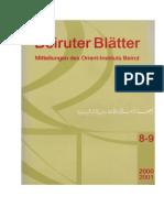 Maraqten Altsüdarabische Inscriften Auf Holzstäbchen Beiruter Blaetter 8-9 2000-2001