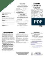 September 7, 2014 Trifold Bulletin