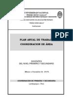 Plan de Trabajo Area Inglés - 2014