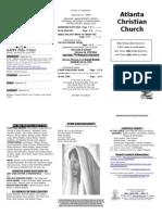 September 21, 2014 Trifold Bulletin