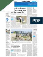Tasa de Embarazos No Baja en Barranquilla