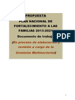 Plan Nacional Fortalecimiento Familias 2013 2021