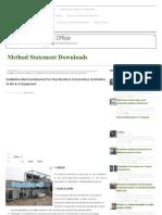 Installation Method Stat...on to MV & LV Equipment