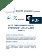 Programa Catia v5 Programador Cnc (Fabricación Mecánica Con Catia v5)