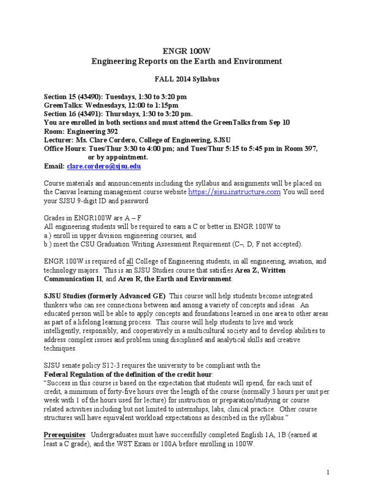 Syllabus 100W Sections15 16 Fall 2014 CC | Plagiarism | Homework