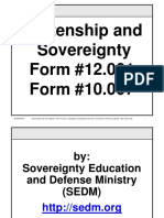 Citizenship and Sovereignty Course, Form #12.001