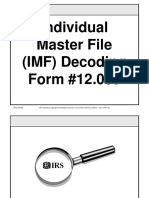 Individual Master File (IMF) Decoding Course, Form #12.005
