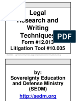 Legal Research and Writing Techniques, Form #12.013