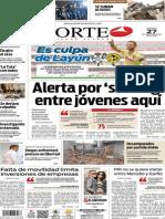 Periódico Norte edición del día 27 de septiembre de 2014
