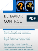 Behavior Control