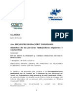 - Relatoría 4to.encuentro Migración y Ciudadanía2Ministerio de RR.ee Uruguay
