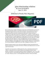 Pak Afghan Detoriating Relations
