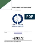 Artemisinin derivatives for treating severe malaria (Review)