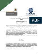 Convocatoria PNPC 2013-1 Renovación