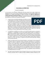 Carta Abierta a La FEDEP