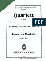 Brahms String Quartet #1