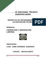 Modulo Formación y Orientacion Laboral 2011 - 2012