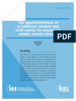 The Appropriateness of a California Student and Staff Survey for Measuring Middle School Climate
