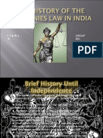 THE HISTORY OF THE COMPANIES LAW IN INDIA