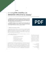 La Divulgacion Científica y La Apropiación Cultural de Las Ciencias - Por José Granés y Paul Bromberg