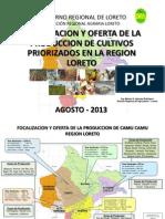 Focalizacion Oferta de La Produccion Cultivos Priorizados Region Loreto Peru