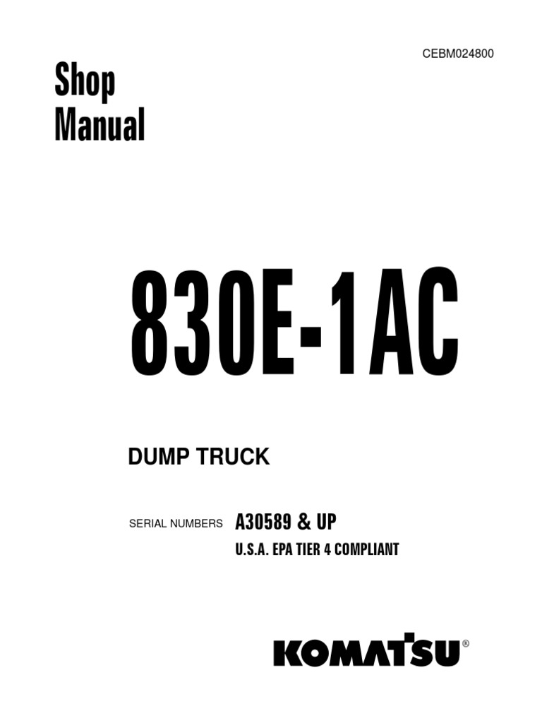 Shop manual 830e 1 ac brake truck publicscrutiny Images
