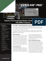 DVDO Air3C-PRO Product Brief