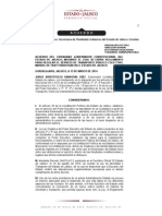 Reglamento Para Regular El Servicio de Transporte Público Colectivo, Masivo, De Taxi y Radiotaxi en El Estado de Jalisco