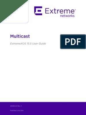 Multi Cast Configuration Extreme Switch | Internet Protocols | Multicast