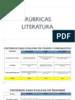 LITERATURA-RUBRICAS