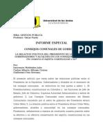 MBA- CONSEJOS COMUNALES DEL PRESIDENTE ALVARO URIBE. ABOGADO, ADMINISTRADOR DE EMPRESAS, CONSULTOR, ASESOR, LITIGANTE.  INOCENCIO MELENDEZ.doc